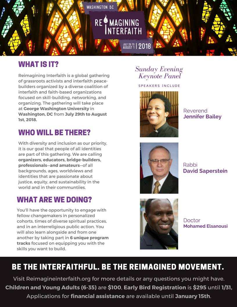 Reimagining Interfaith Graphic