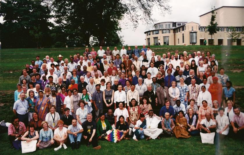 Signatories and witnesses at the URI Charter signing in Pittsburgh, 2000.