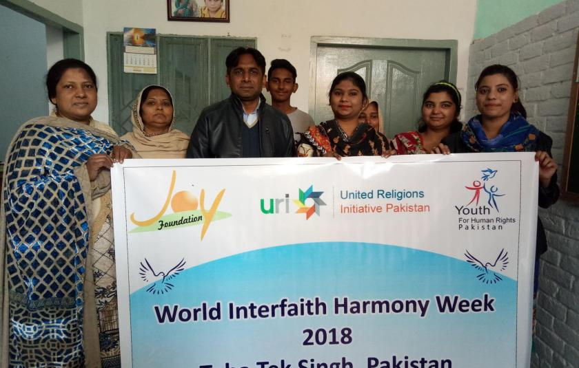 Slideshow: Joy Foundation and URI Pakistan celebrate World Interfaith Harmony Week 2018