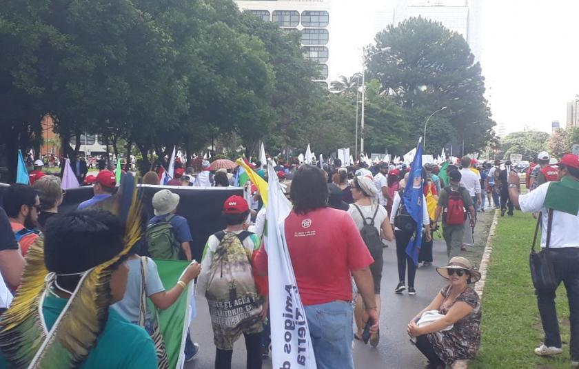 The March Against the Privatization of Water in Brasilia, Brazil on World Water Day 2018