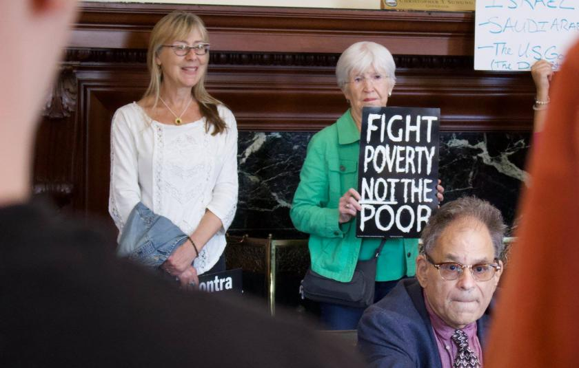 Members of New Hampshire Poor People's Campaign gather