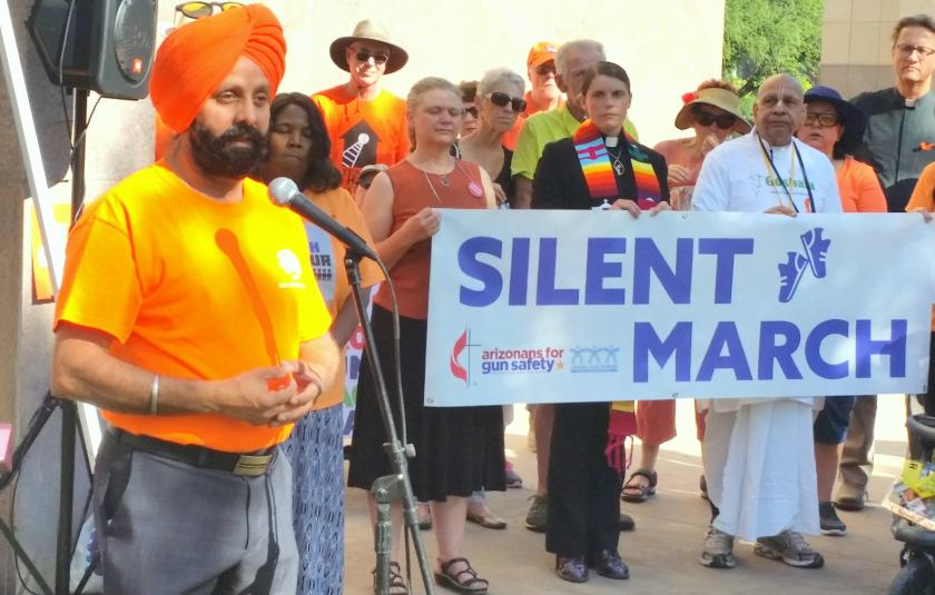 AFN and AzIFM collaborate on a Silent March