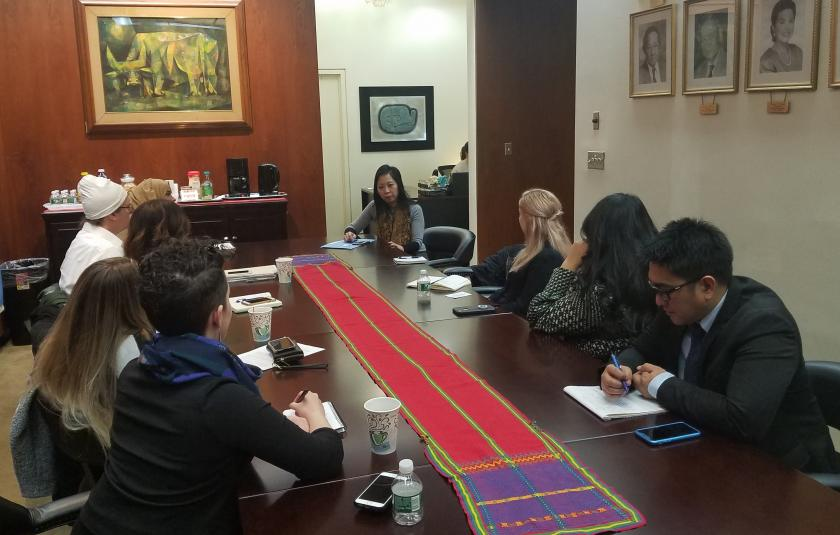 URI leaders meet with Philippines Deputy Permanent Representative Ms. Kira Christianne D. Azucena.