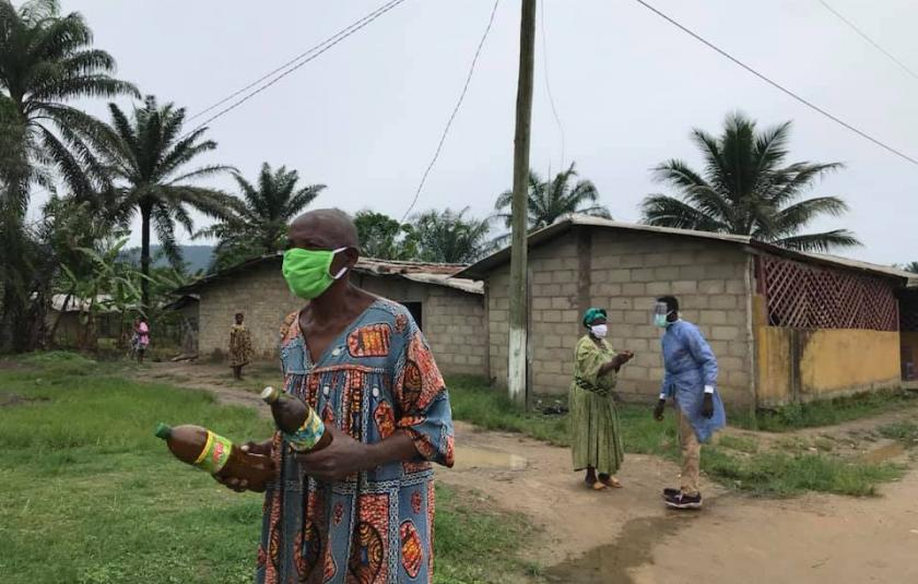 Donating Face Masks to the Needy in Cameroon