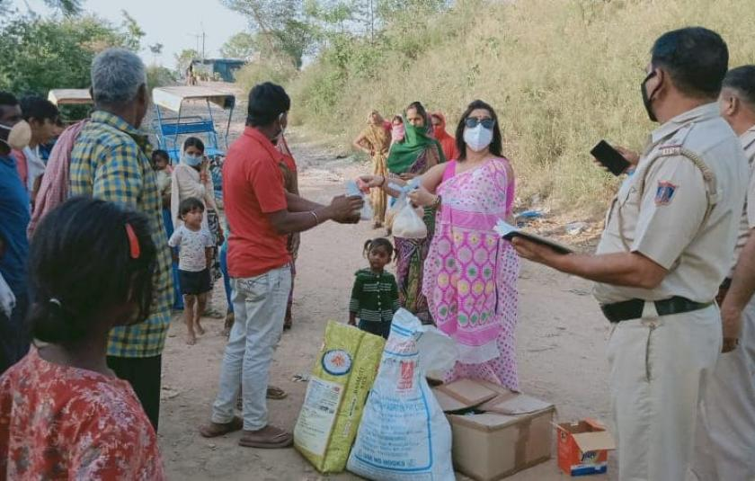 On this holy day, we distributed raw materials like oil rice, dal, atta, and soap kits to slum and underprivileged families.