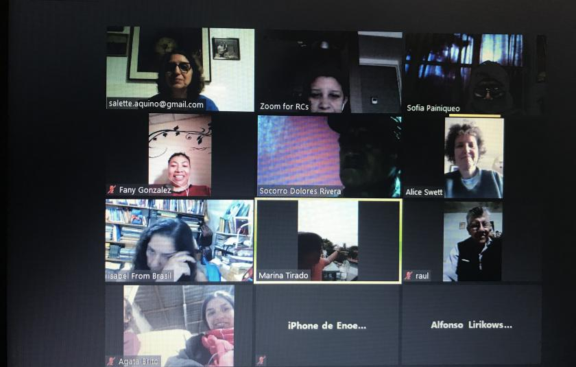 Photo: zoom screen with meeting participants