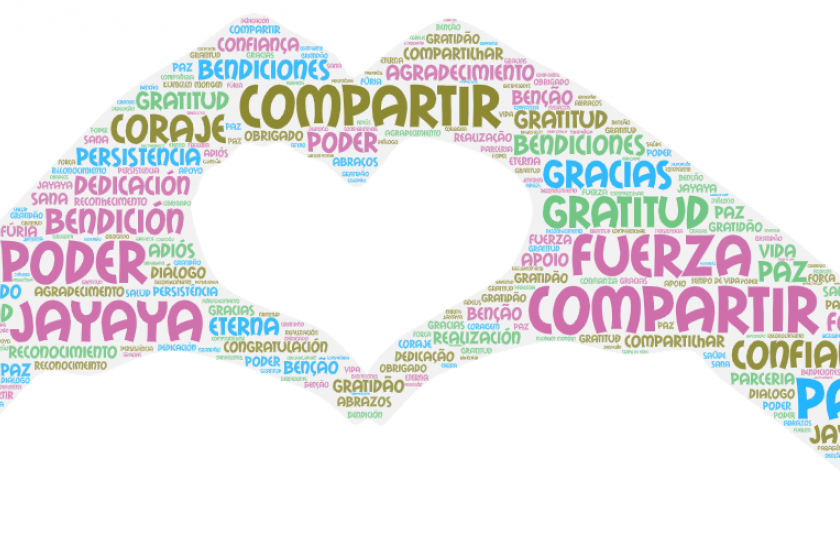 Photo: word cloud with the farewell words