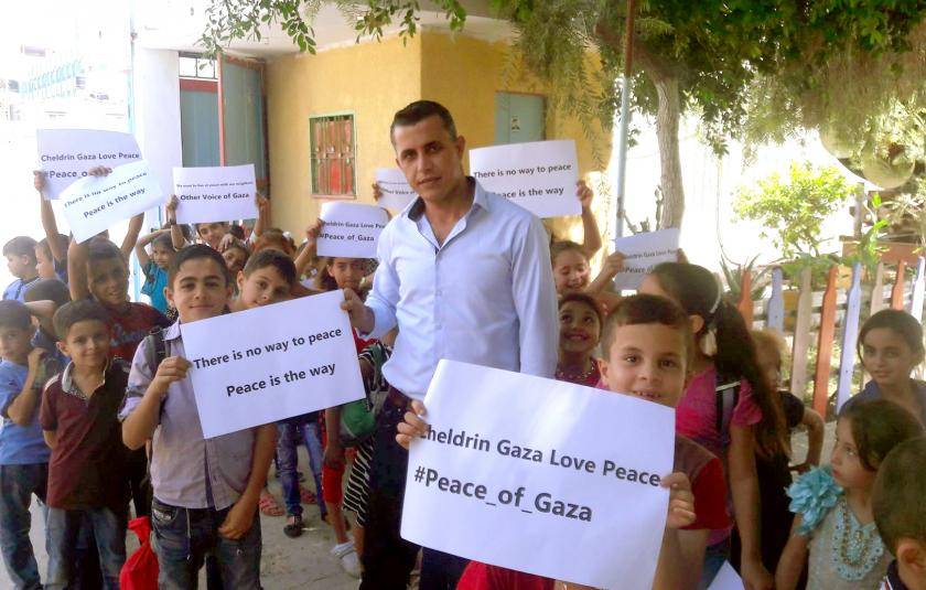 Volunteering For Peace CC celebrates IDP 2016 with children in Gaza