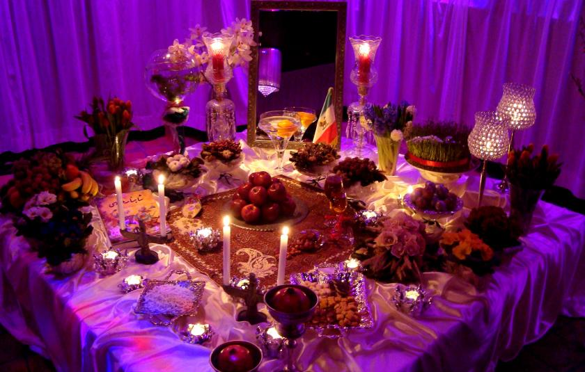 Persian New Year Table - Haft Sin - in Holland - Nowruz - Photo by Pejman Akbarzadeh PDN by PersianDutchNetwork via Wikicommons