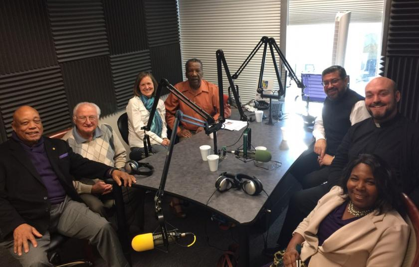 AFN and AZIFM record a radio show