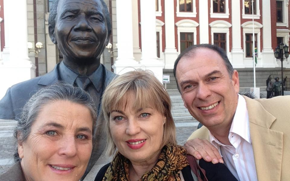 Berry, Karen, Toni Itov - Cape Town, Parliament, May 2015.JPG