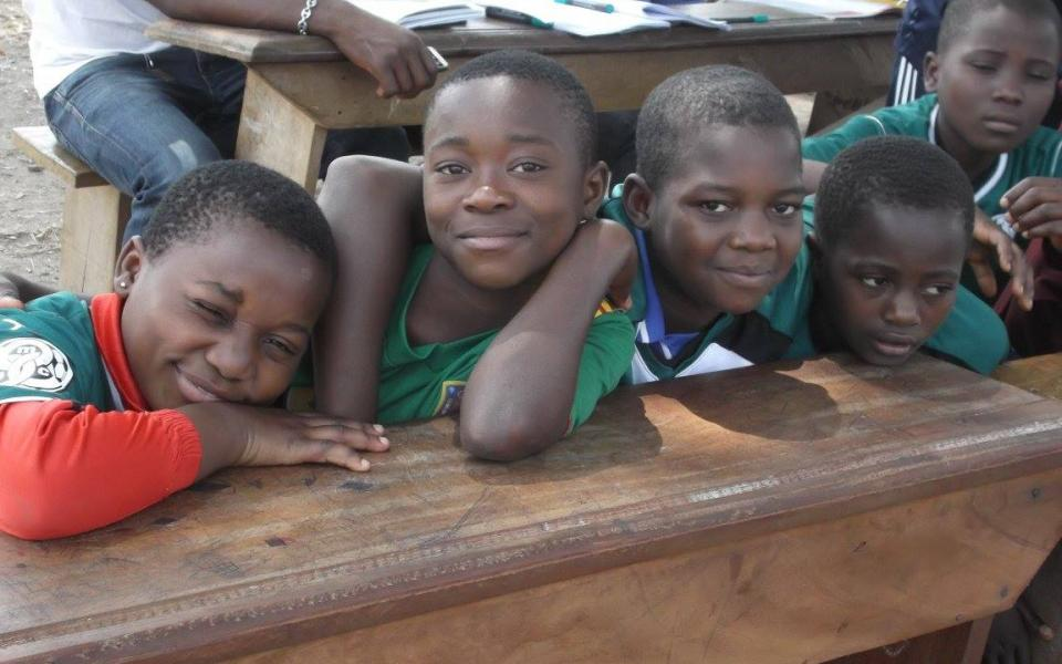 Global Compassion kids in Cameroon - boys smiling