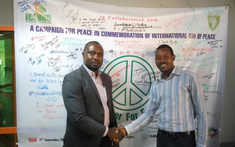 International Centre for Leadership Development Nigeria celebrates Peace Day 2017