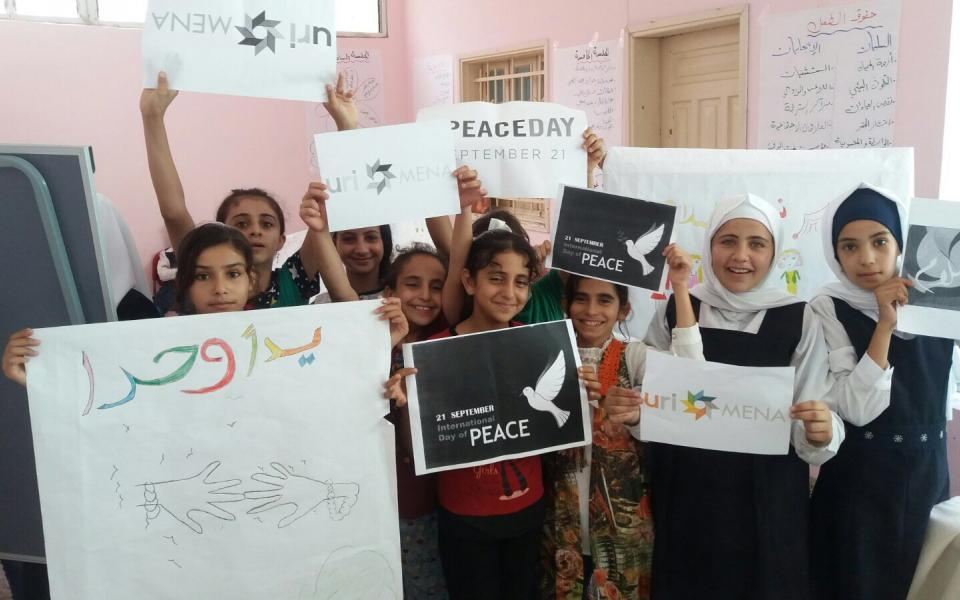 Children in Gaza celebrate Peace Day with the Abrahamic Reunion CC