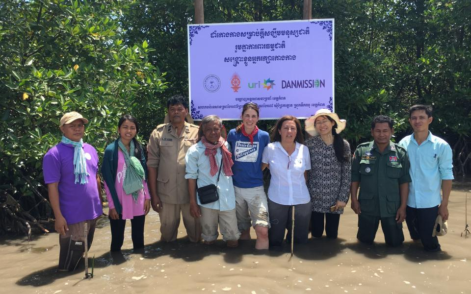 The Principle-19 Team in a Cambodian mangrove swamp