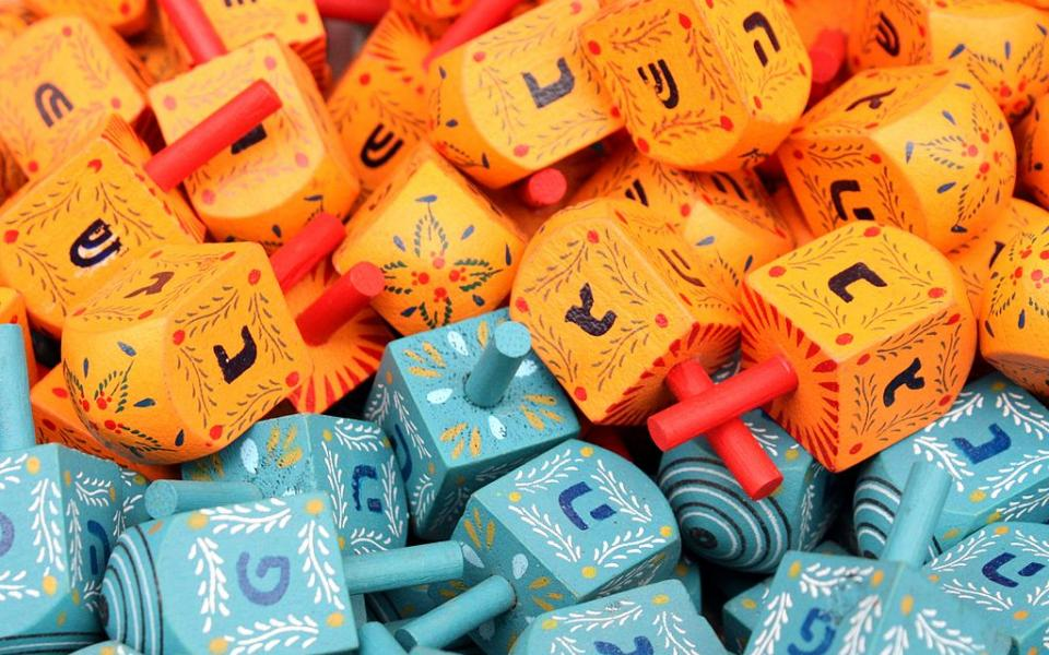Photo: Colorful dreidels by Adiel lo, via Wikicommons