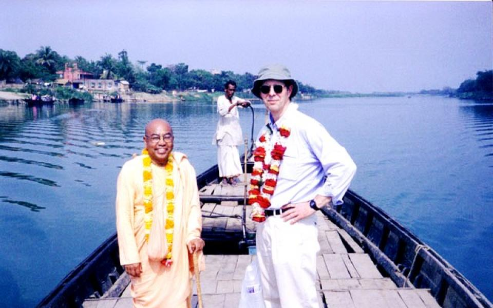 Dr. T. D. Singh in India with URI's founding Executive Director, Charles Gibbs.