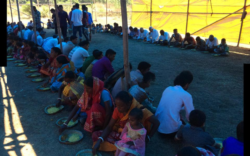 Charity Meal for 35,000 People in West Bengal, India