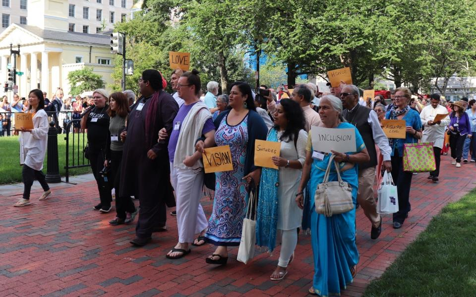 Reimagining Interfaith public action marches through streets of DC