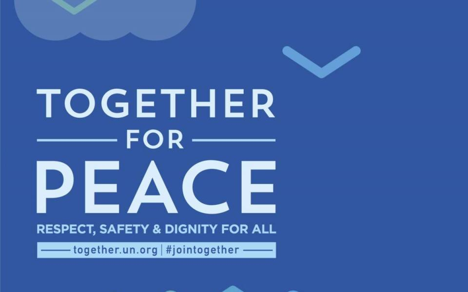 Together for peace graphic