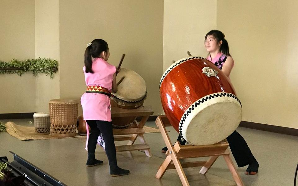 Drummers perform at Interfaith Roundtable of Kaua'i Martin Luther King Day Celebration