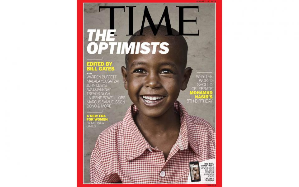Time Magazine - Optimists Issue Cover