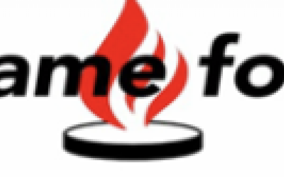 red flame for freedom logo