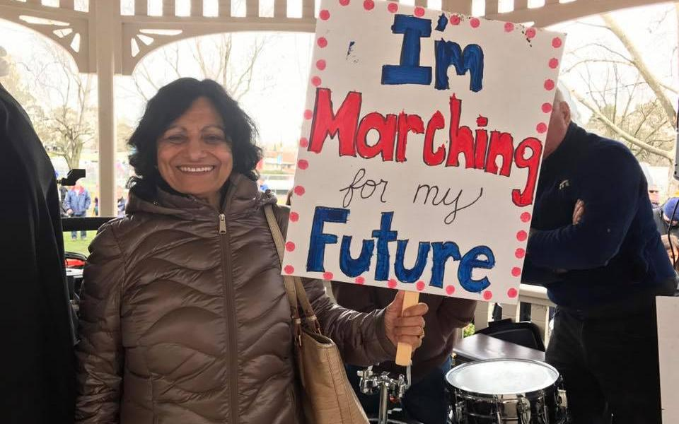 Satya at the Women's March