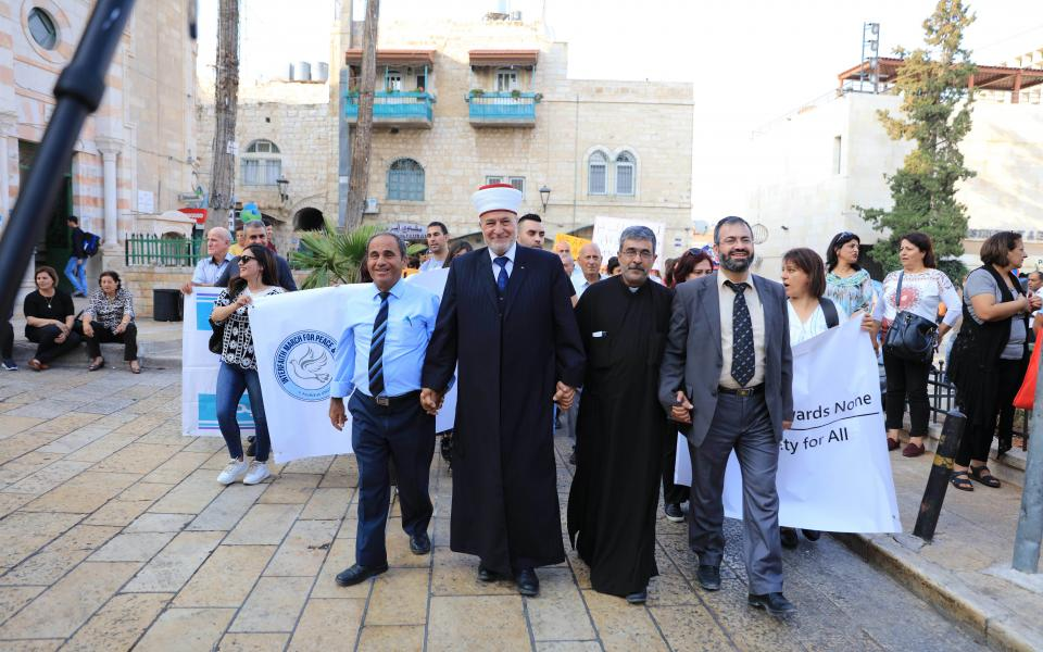 The Abrahamic Reunion CC celebrates Peace Day 2019 with an Interfaith March for Peace & Justice in Bethlehem