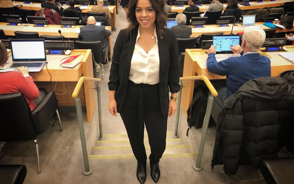 Emerald Stanton at the United Nations