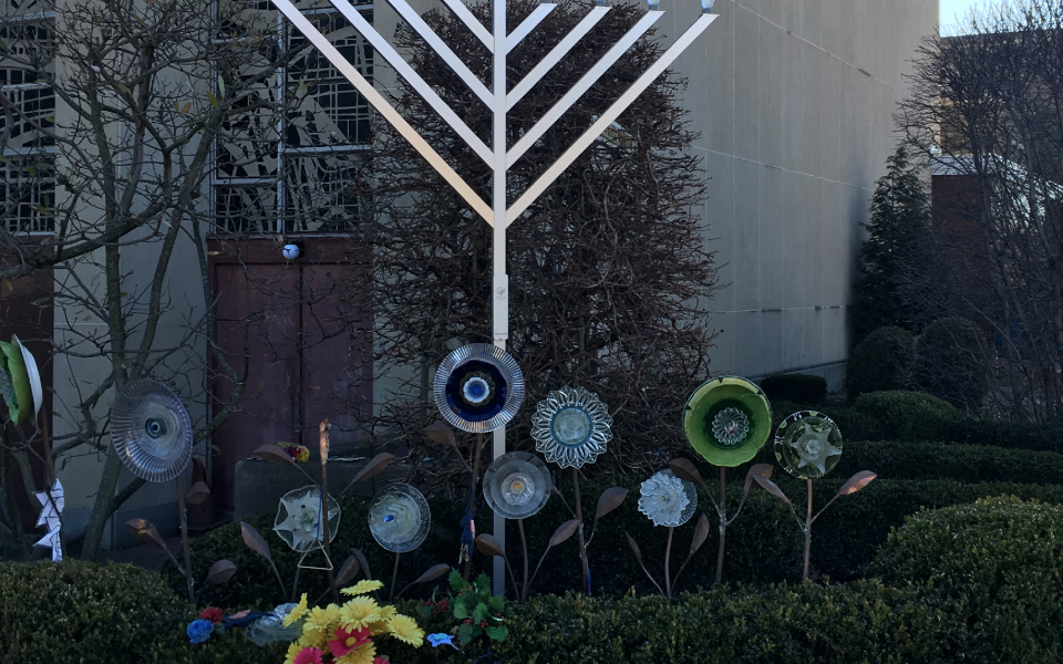Memorials outside the Tree of Life synagogue in Pittsburgh