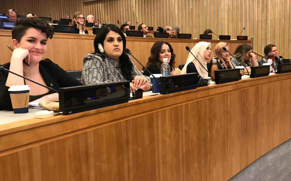 URI young leaders attend UN symposium