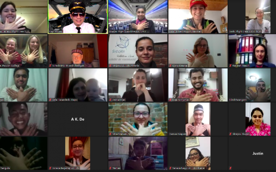 Photo: Screen shot of zoom meeting of Participants attending the virtual travel webinar