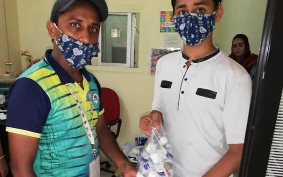 URI West India Distributes Pads and Other Necessities