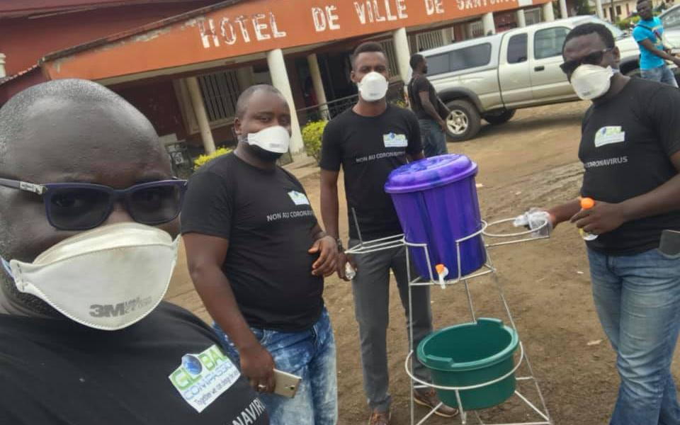 URI Cameroon Member Group Highlights Hand Washing to Fight Virus