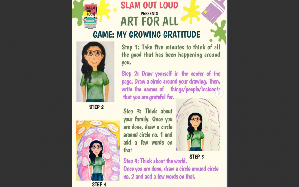 Slam Out Loud Invites Artistic Entries - My Growing Gratitude