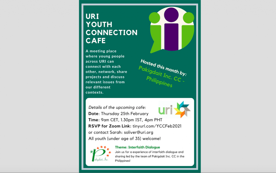 Poster showing details of the upcoming Youth Connection Cafe