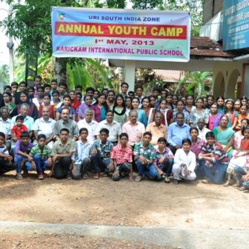KIPS youth camp in South India